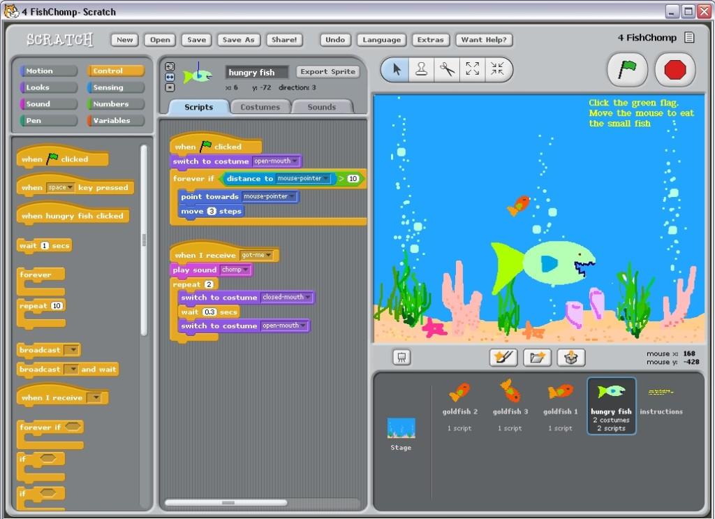 Scratch, ferramenta desenvolvida pelo MIT e utilizada no Stencyl para programar sem escrever código