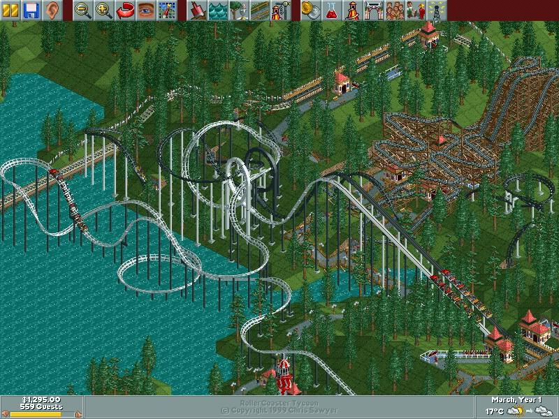 RollerCoaster Tycoon, um jogo desenvolvido em Assembly
