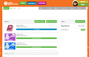 A plataforma de questionários Ludo Escola permite que o usuário cadastre suas questões e respostas
